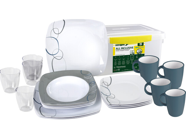 Brunner All Inclusive Dishes Set 36 Pieces design cascade
